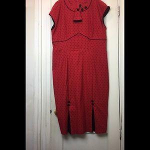 Stop Staring Polka Dot Pin Up  Dress